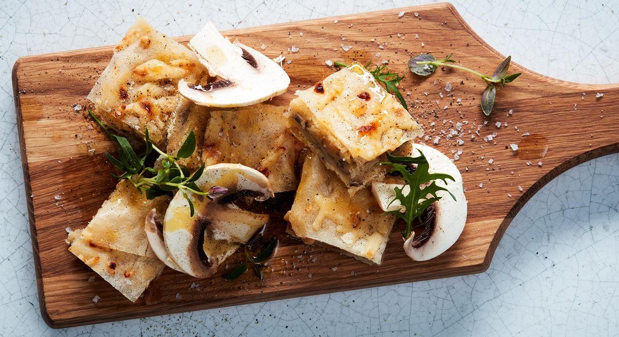 Goda aptitretare med ost och svamp