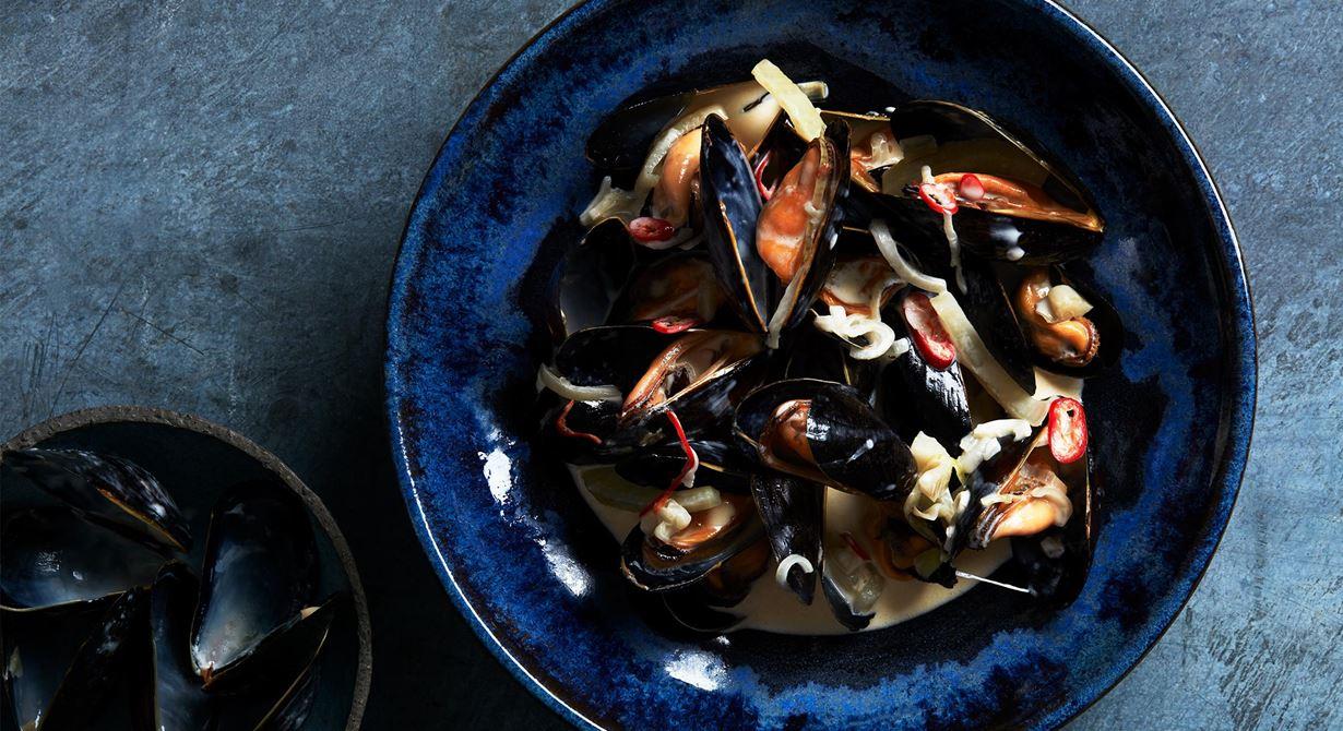 En enklare variant av den amerikanska musselsoppan clam chowder.