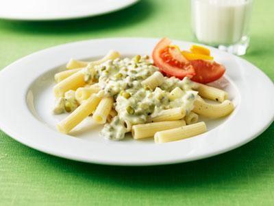 Krämig och enkel pastasås. Mungbönor har en mild smak som påminner om gröna ärtor och innehåller massor av nyttigheter.