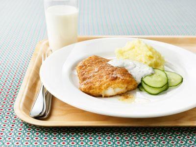 Fiskrätter är populära på vår skola. Torsk är gott och passar bäst med rena, klassiska smaker.
