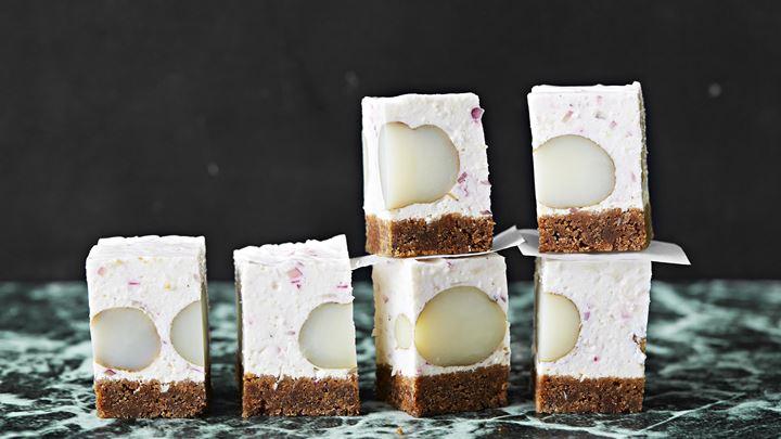 Pepparrots- och potatischeesecake