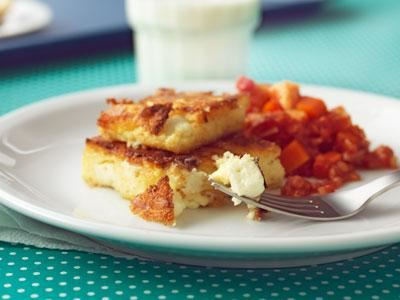 Mustig grönsaksröra med smakrik ostpolenta.