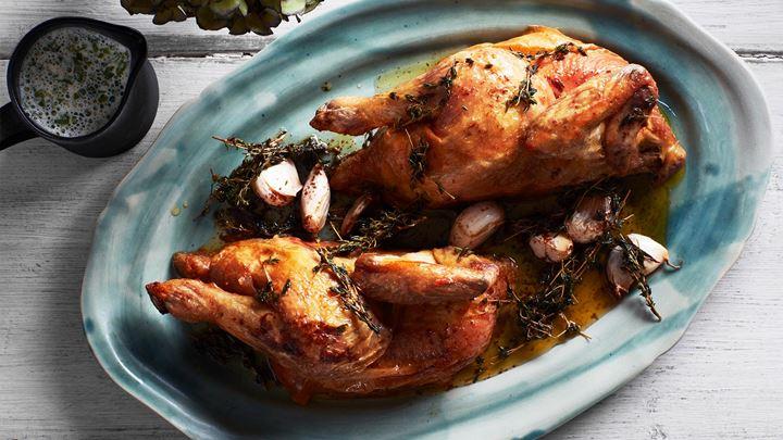 Rostad kyckling med dragonsås