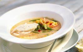 Härlig vegetarisk soppa som får sting från chili.