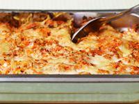 Alla gillar lasagne. Och denna enkla vegetariska med morötter, krossade tomater och cottage cheese är inget undantag. Mumsigt, tycker juniorerna på Tomaslundens förskola.