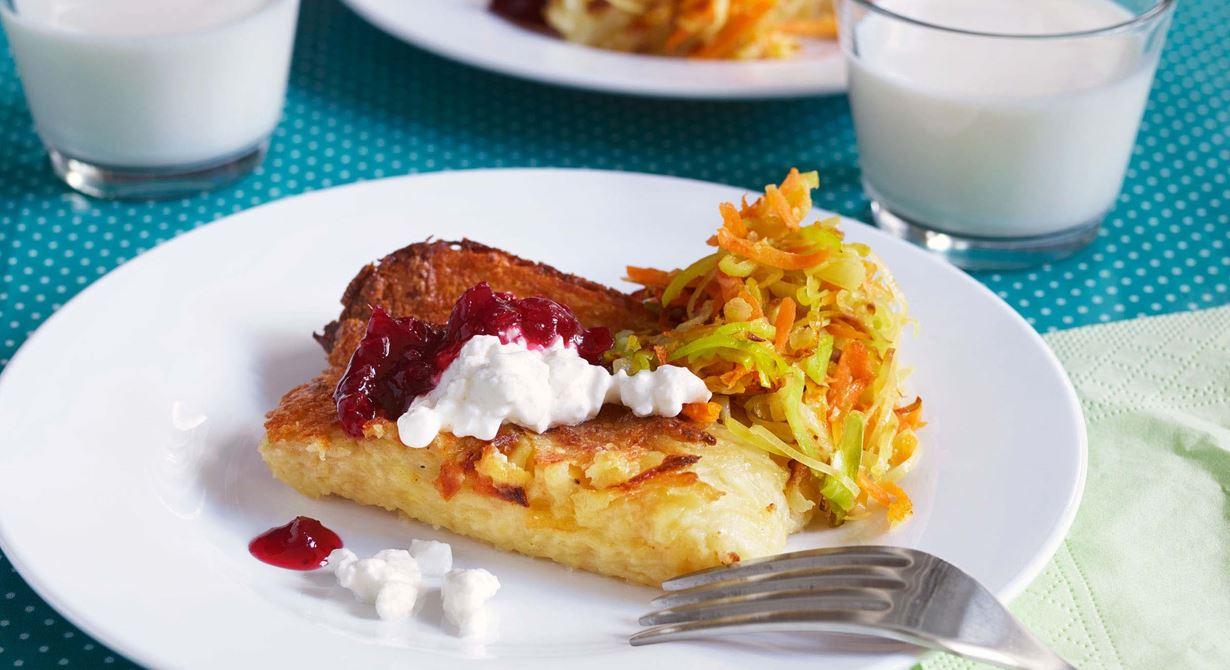 Lufsa är en öländsk ugnspannkaka med fläsk som påminner lite om rösti.